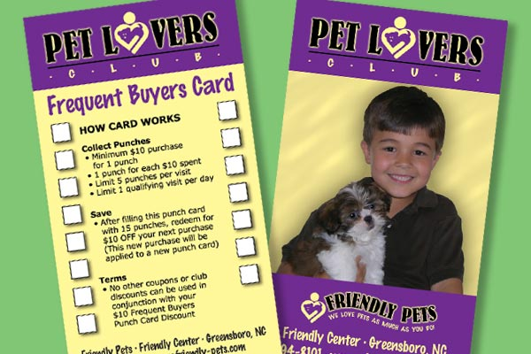 Image of Pet Lovers Card and Frequent Buyers Punch Card